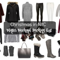 Christmas in New York, Packing List + Outfits