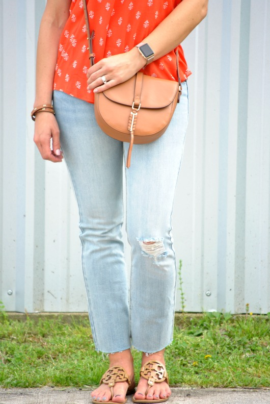 orange-blouse-jeans-sandals