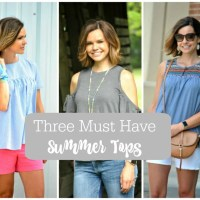 Three Trendy Tops to Add to Your Summer Wardrobe