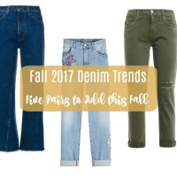 Fall 2017 Denim Trends:  Five Pairs to Add this Fall