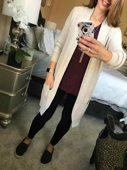 Are you looking for ideas of what to wear under a long cardigan? This post is for you, the best thing is you might just have all you need already!