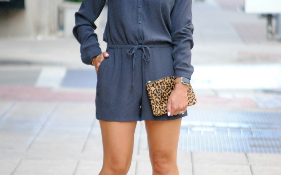 Fall Transition Outfits:  Long Sleeved Romper