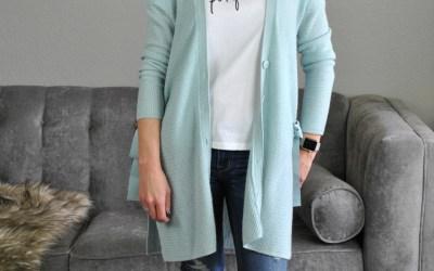 SAHMonday:  Graphic Tee, Cardigan and Jeans