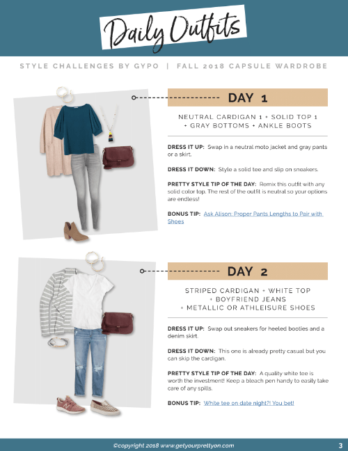 31 DAYS OF MIX AND MATCH OUTFIT IDEAS