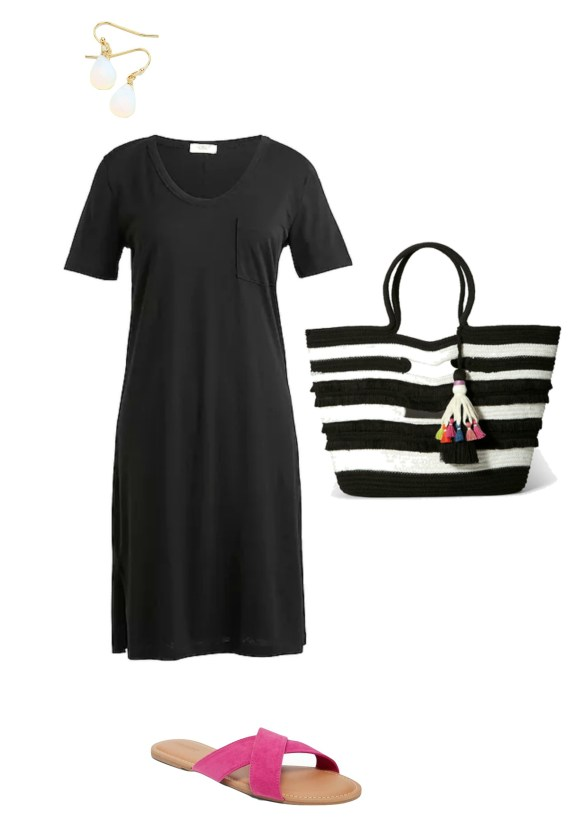 How to Wear a Casual Black Dress