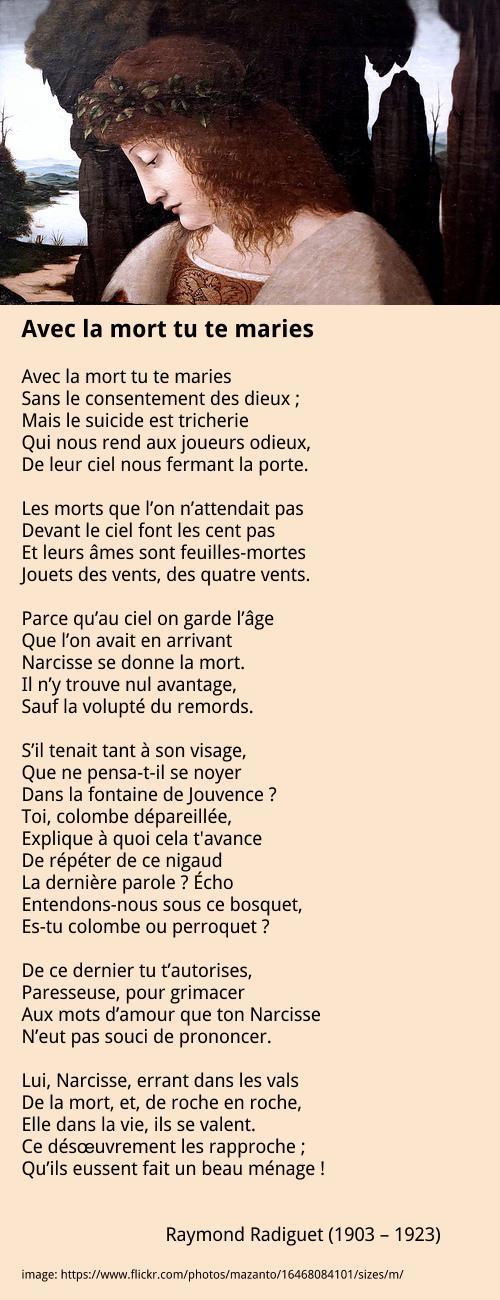 Radiguet Raymond – Avec la mort tu te maries