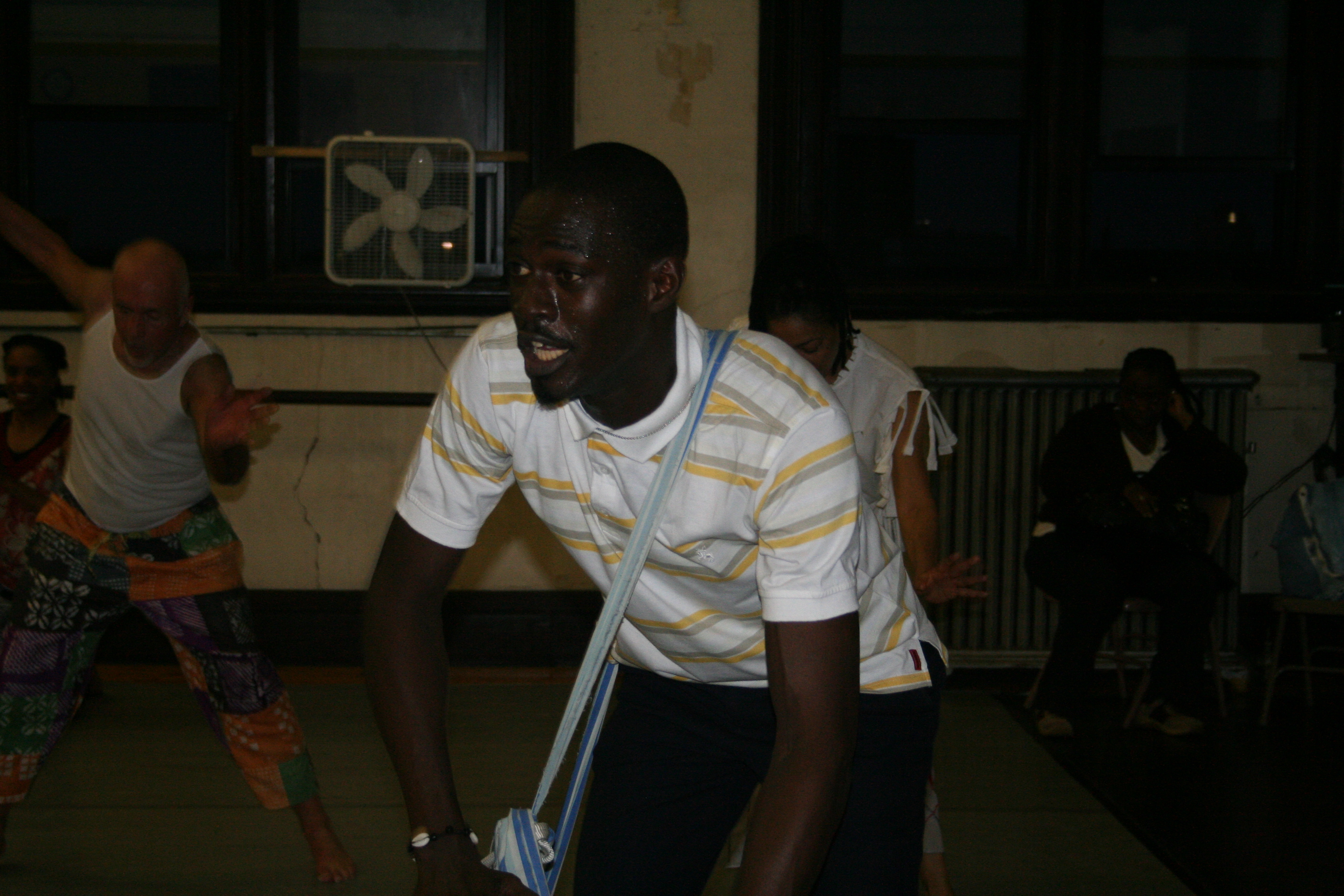 Moustapha Faye plays for dance class