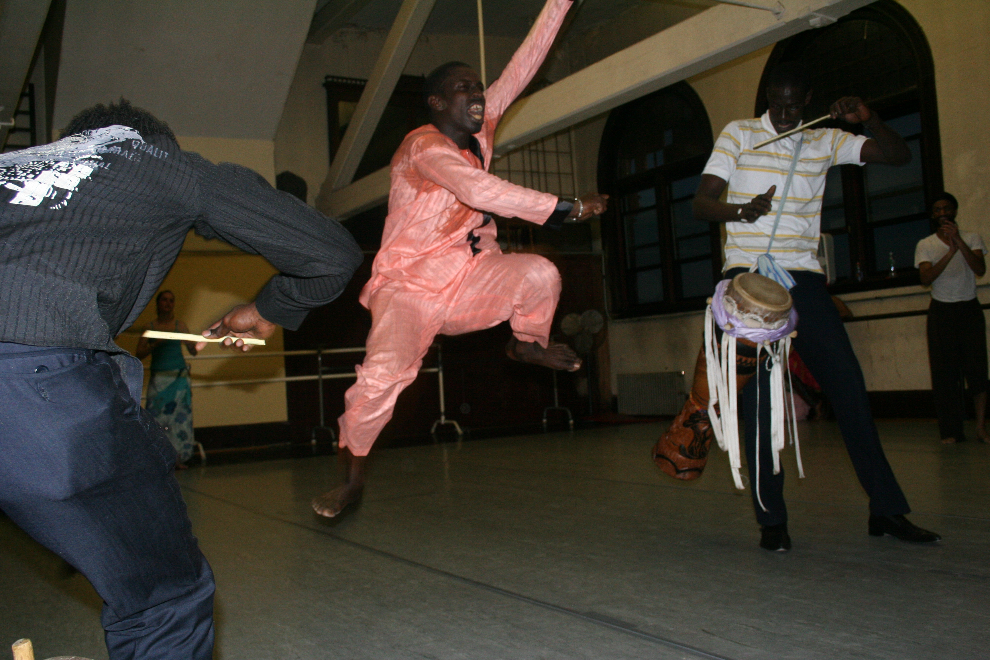 Moustapha and Aziz demonstrate sabar verite