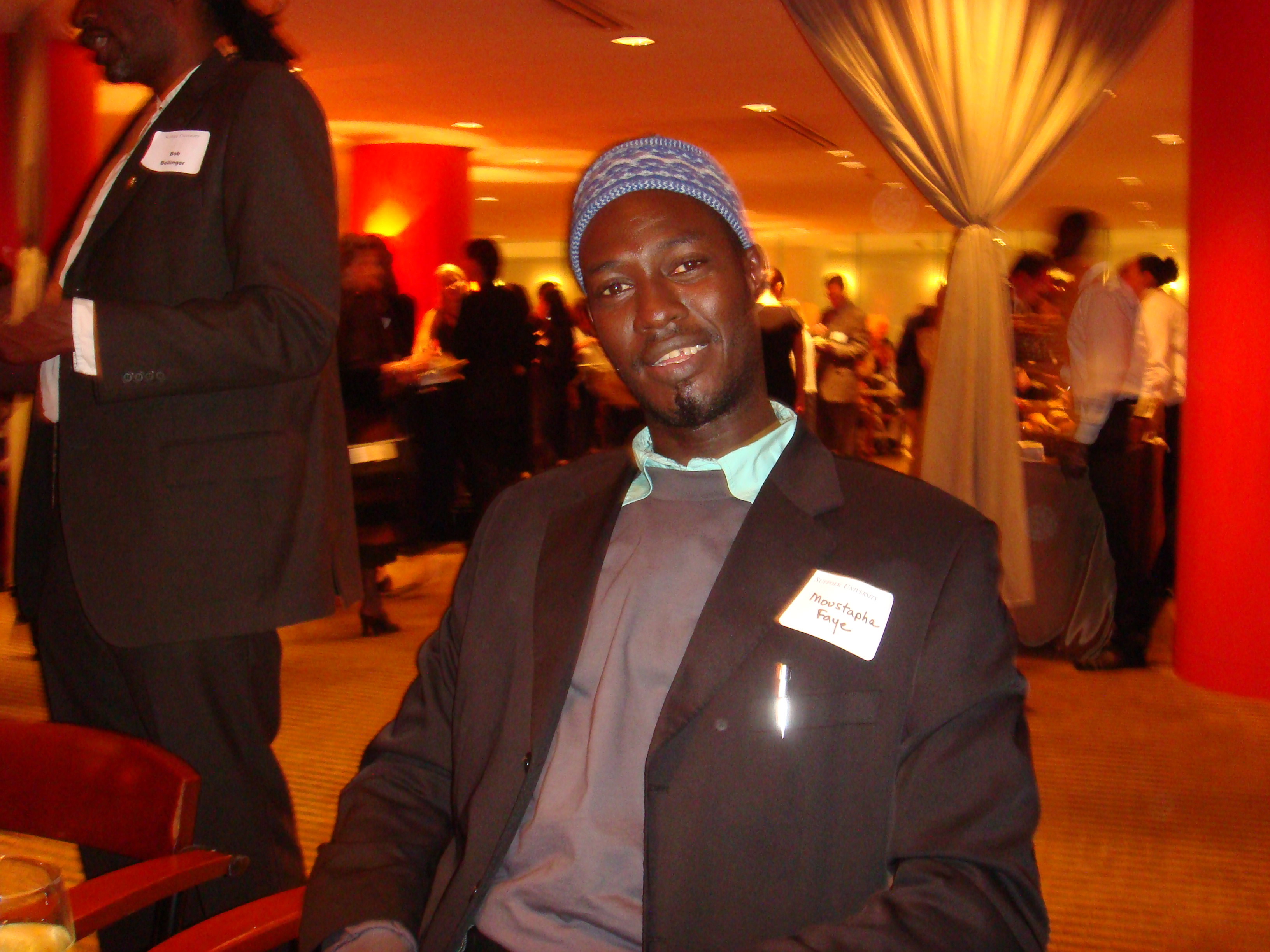 Moustapha at the Suffolk University Dean's Reception.