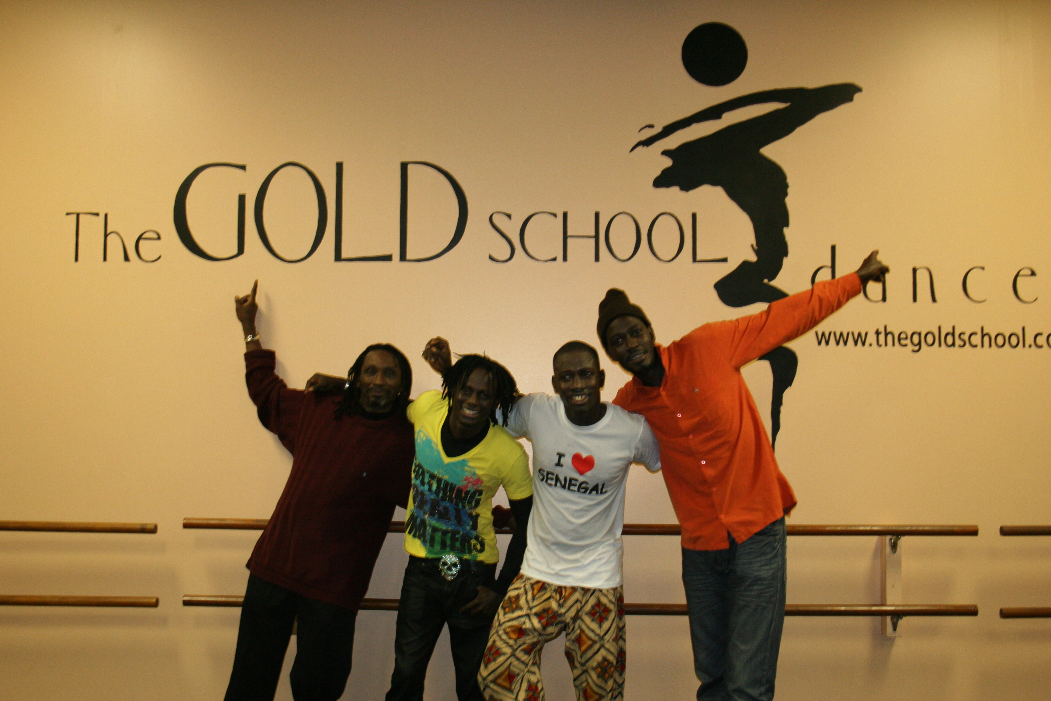 Sipho, Malick, Aziz and Moustapha at the Gold School.