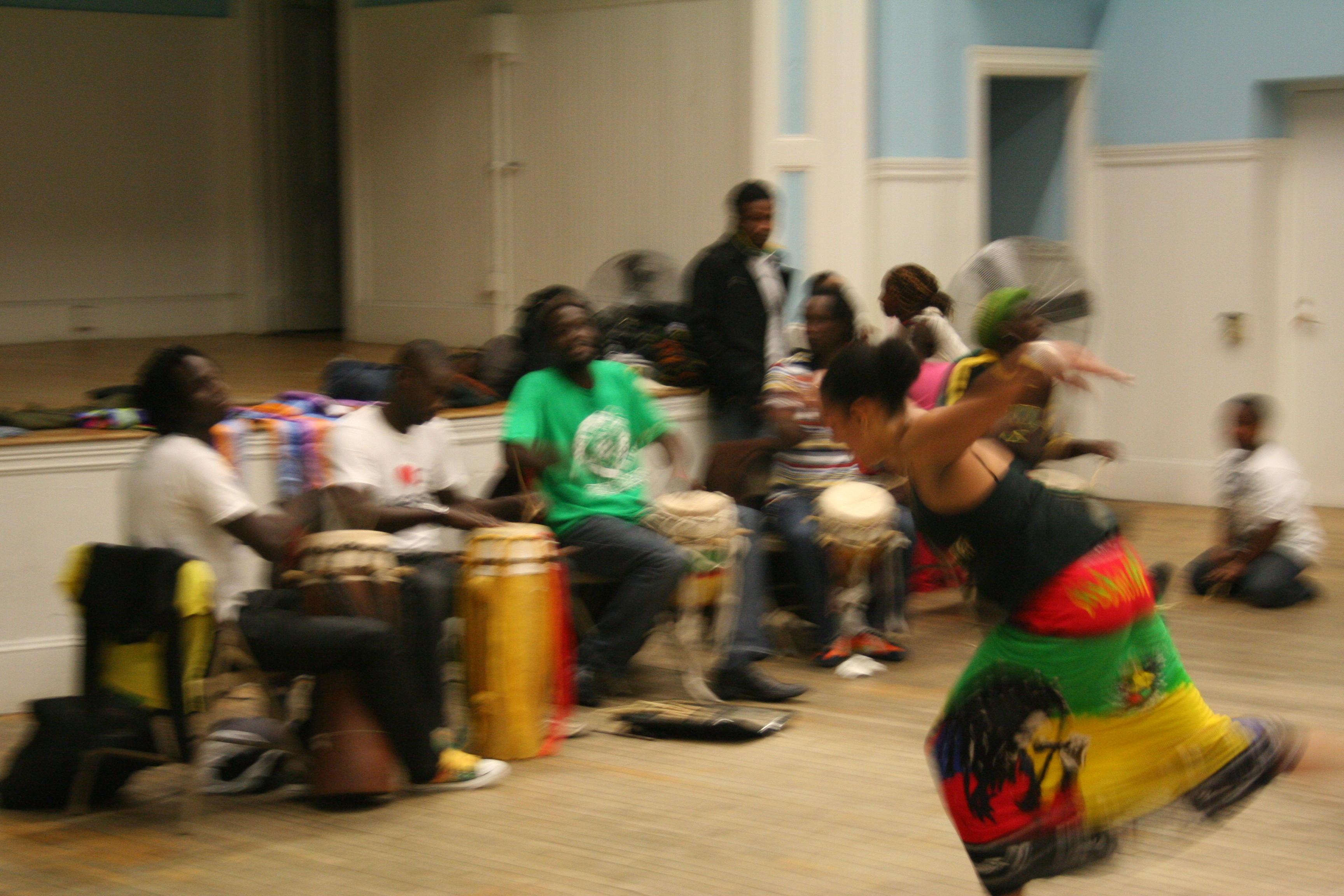 Playing for Pa Seck's dance class.
