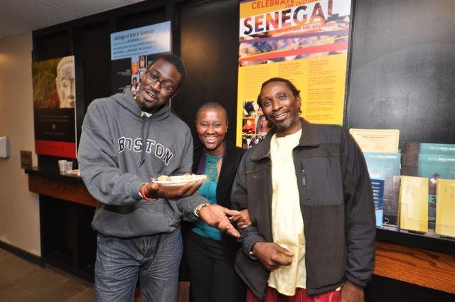 Moustapha Faye, Marie-Claude Mendy (owner of Teranga) and Prof. Bellinger.