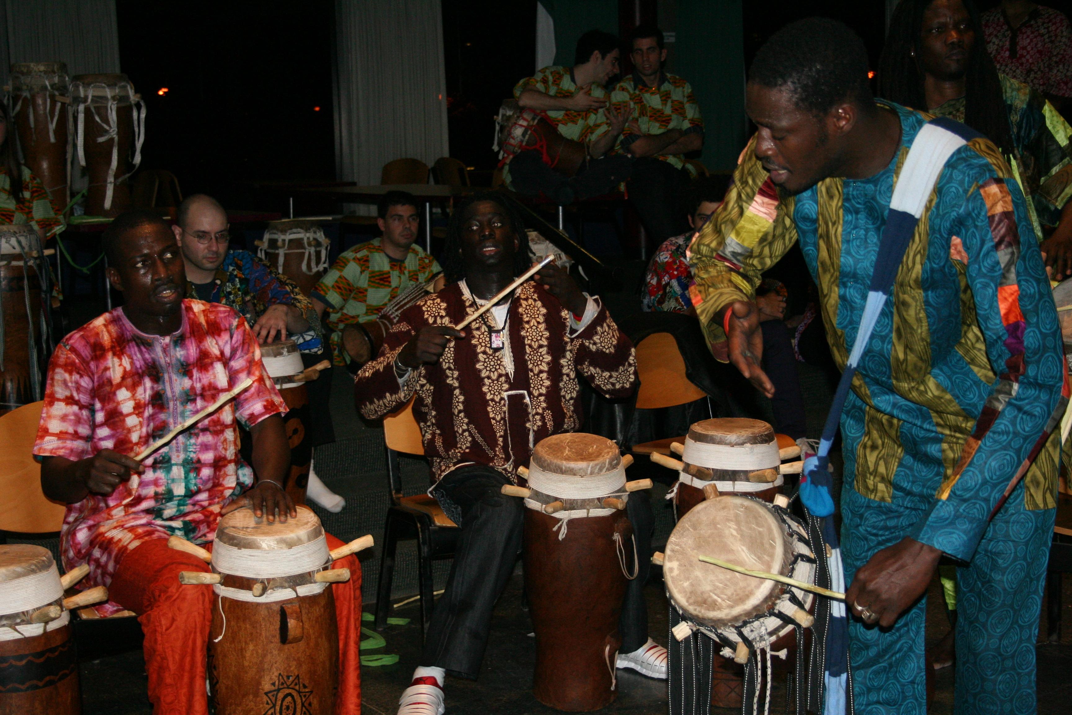 Aziz Faye, Moha Seck and Moustapha Faye play together.