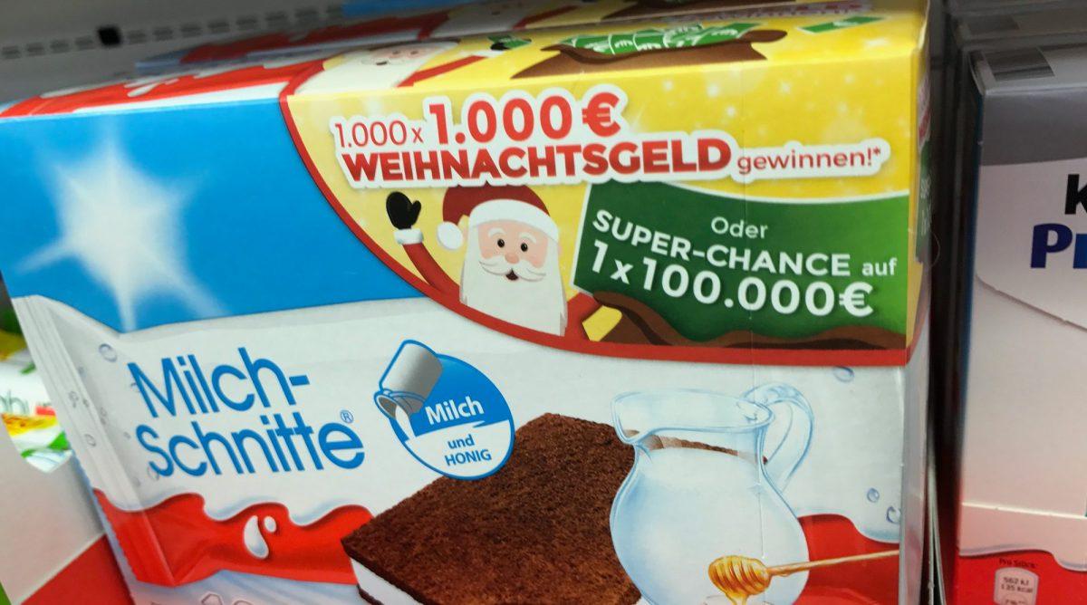 Ferrero Schlitten Gewinnspiel 2018 Mit Kinder Pingui Milchschnitte