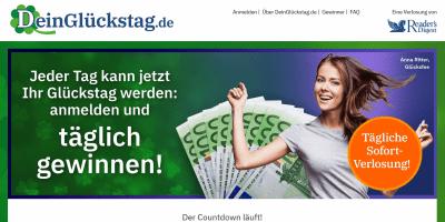 deinglückstag.de Screenshot