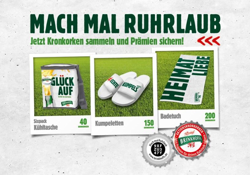 Brinkhoffs Ruhrlaub Kronkorken Aktion