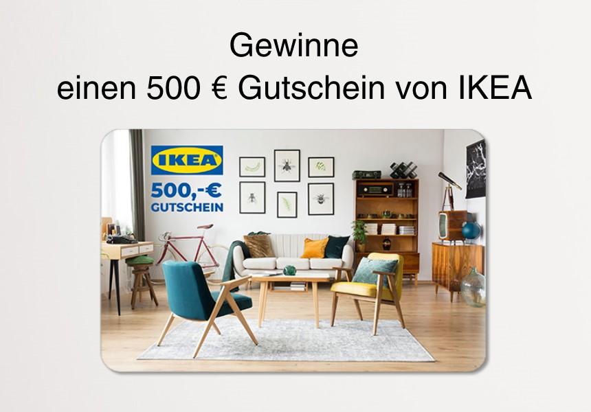 Gewinne einen 500 Euro Gutschein von IKEA
