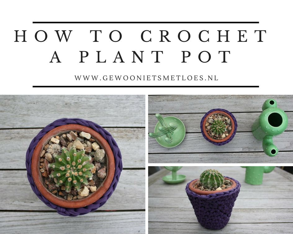 How to crochet a plant pot