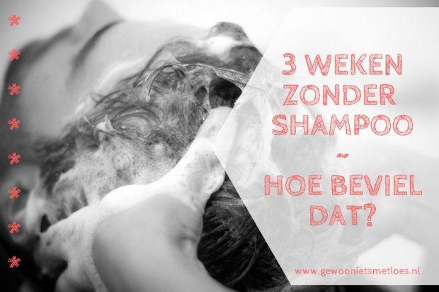 3 weken zonder shampoo