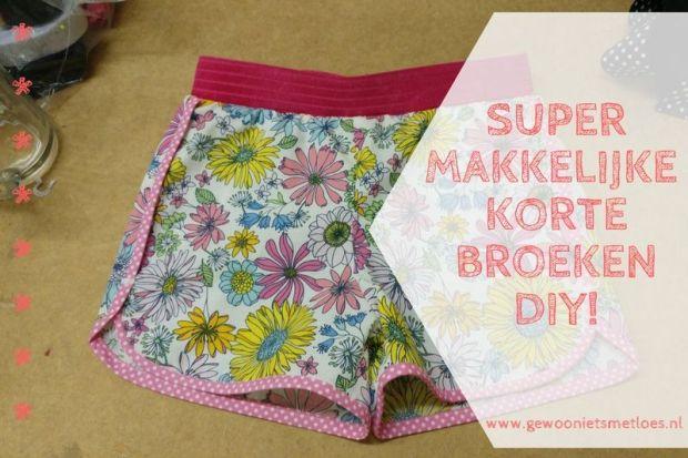 DIY korte broeken naaien