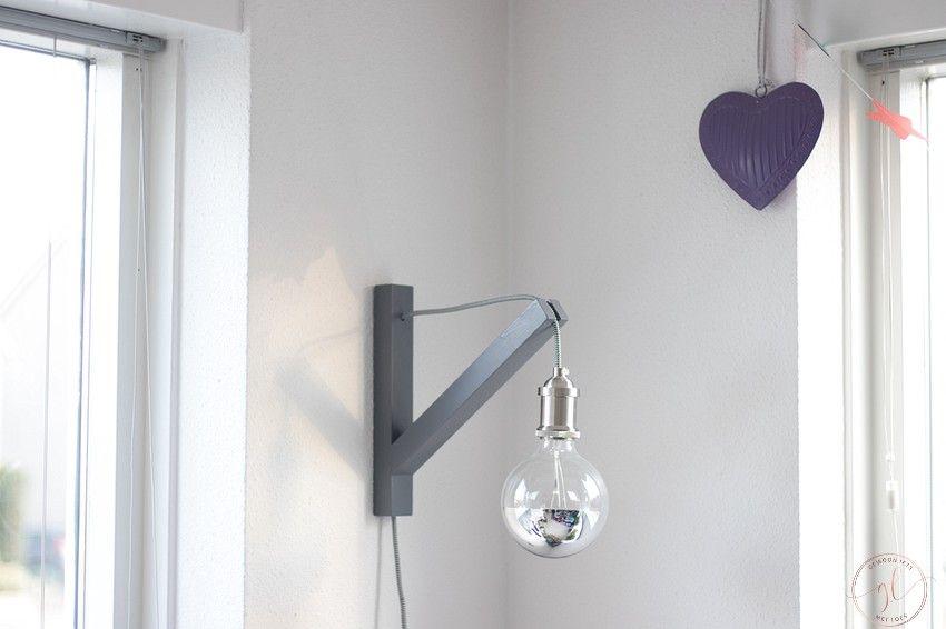 een lamp verven met permanent spray van edding (8)