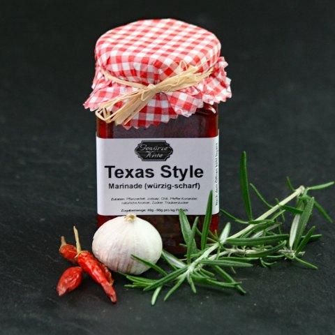 Ein Glas Texas Style Marinade
