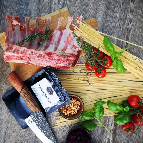 Zutaten für das Lammkarree mit Pasta