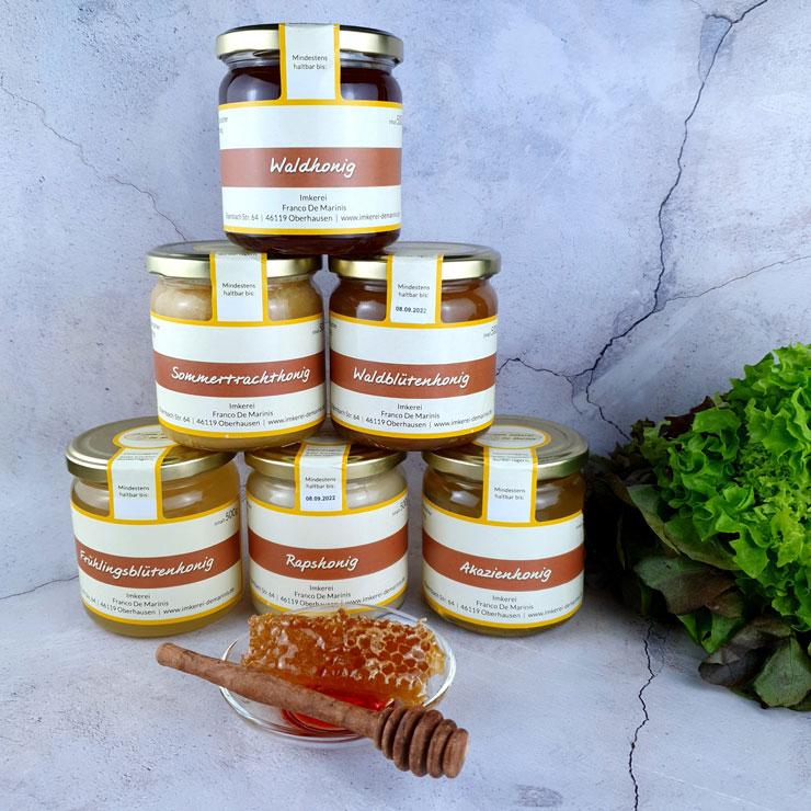 verschieden Honig Sorten