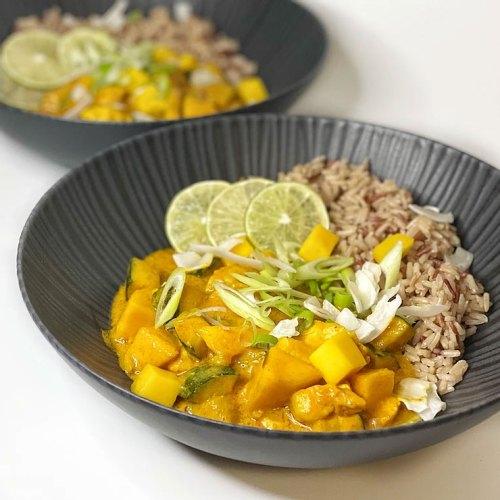 Fertiges-Mango Kokos Chicken Curry