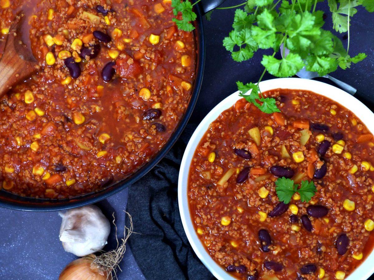 Rezept für veganes Chili sin Carne