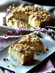 Rhabarberkuchen Streuselkuchen vegan GewusstVegan Rezept Puddingfüllung Rhabarberstreuselkuchen Streuselkuchen