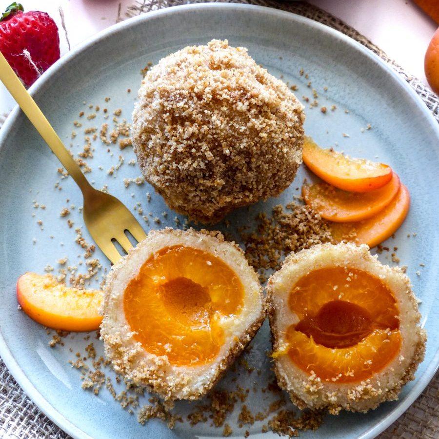 Marillenknödel Rezept vegan Aprikosenknödel
