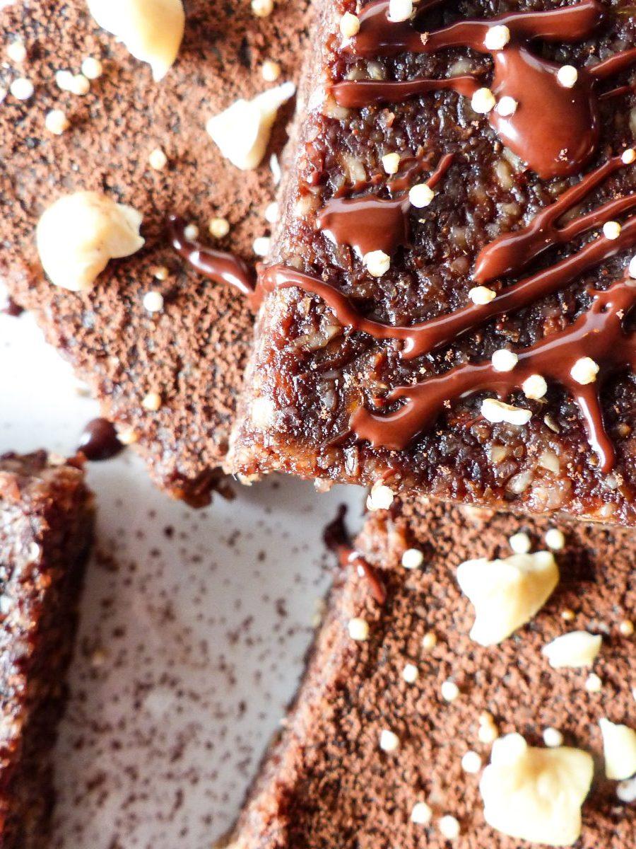 Rohkost Brownies vegan