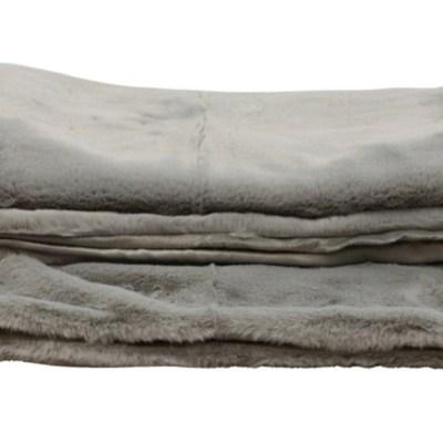 Plaid zacht grijs 130×170