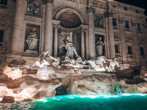 Rome  Fontana Di Trevi Italy