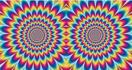 optische illusie - beweegt niet