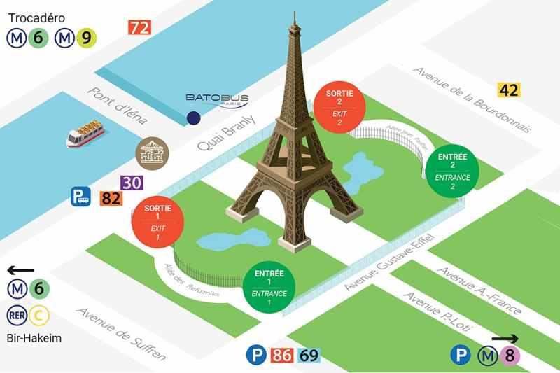 Eyfel Kulesi Haritası