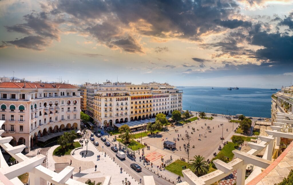 Aristotelous,Square,At,Afternoon,,Thessaloniki,,Greece