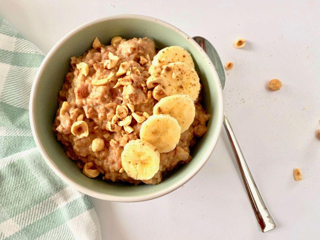 Havermout ontbijt met banaan uit de slowcooker