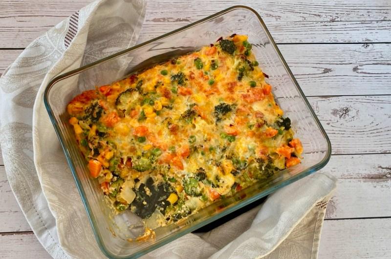 Groentenschotel met kaas uit de oven
