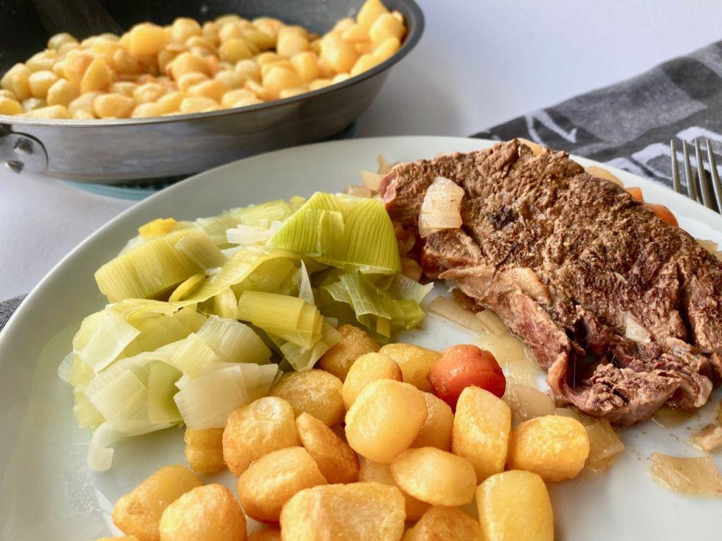 Slowcooker stoofvlees met mosterd