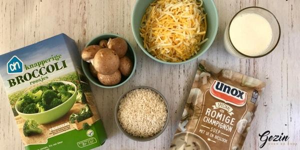 Slowcooker broccoli en rijst schotel