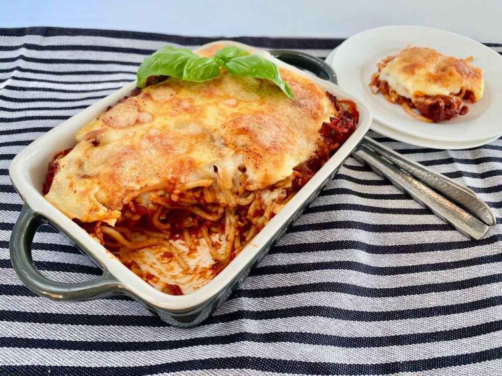 spaghetti uit de oven