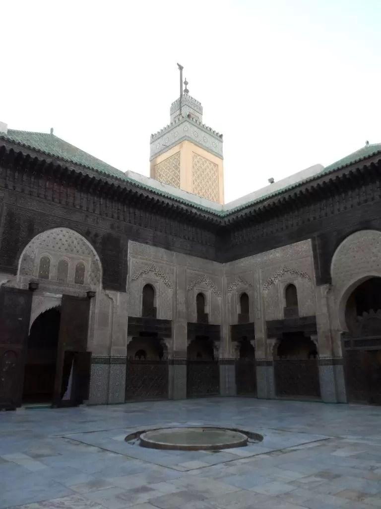 Fas Gezisi Notları, Fes Gezilecek Yerler, Bou Inania Madrasa