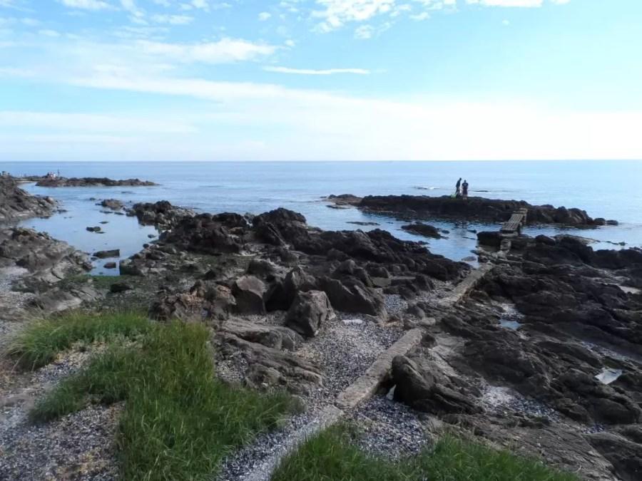 Punta del Este burnu kayalık