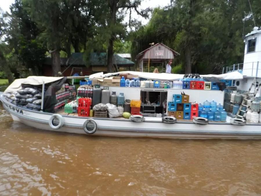 Tigre deltasında süpermarket