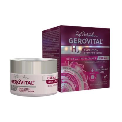 Evolution Ultra Active Radiance Cream Hyaluronic Acid Gerovital 2