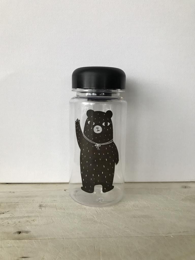 waterfles klein zwart beer