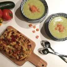 prei courgette mosterd soep
