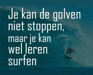golven niet stoppen -wel leren surfen, Anti stress